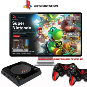 RetroStation Retro Video Console with 2 wireless gamepads type b