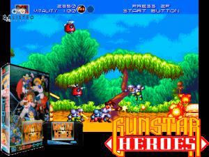 Gunstar Heroes - retro game console