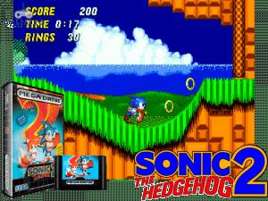 retro gaming console - Sonic the Hedgehog 2
